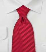 Bright Ruby Red Silk Tie Made in Kids Size