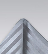 Tonal Silver Pocket Square