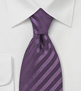 XL Light Eggplant Silk Tie