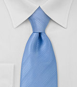Solid Powder Blue Mens Tie