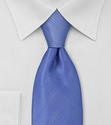 Periwinkle Blue Tie in XL Length