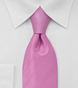 Necktie in Bubble Gum Pink