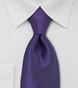 Bright Eggplant Purple Tie