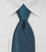 Dark Teal Blue Mens Tie