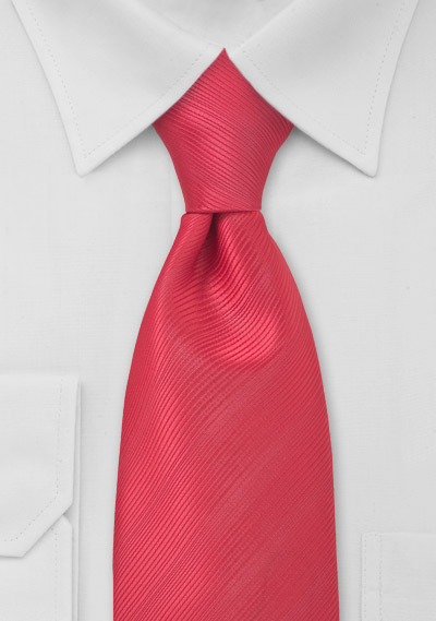 Kids Necktie in Watermelon Red
