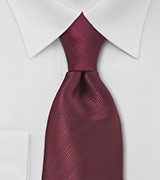 Bordeaux Red Necktie