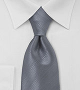 Smoke Gray Mens Tie