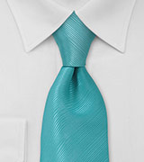 Oasis Blue Mens Tie in XL Length
