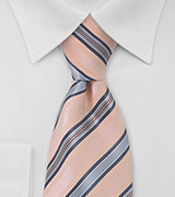 Puccini Peach and Blue Striped Tie