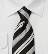 Striped neckties<br>Modern black necktie