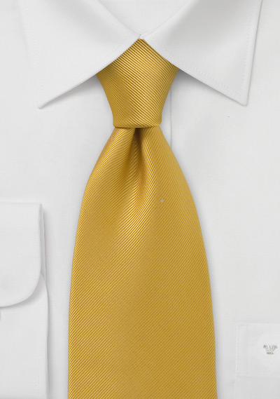 Solid Mustard Yellow Tie