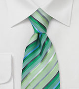 Lime and Grass Green Tie