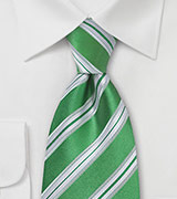 Shamrock Green Striped Tie