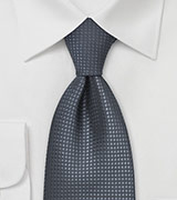 Dark Gray Silk Tie