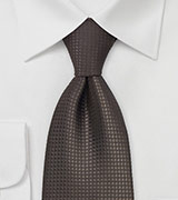 Mocha Brown Silk Tie