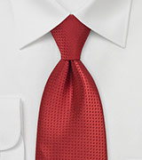 Men's Tie in Solid Ruby Red