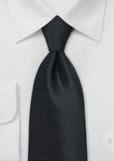 Textured Black Tie made in Kids Length