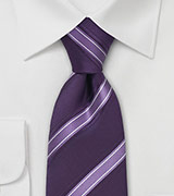 Modern Lavender Striped Tie
