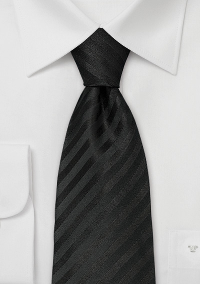 Black silk tie<br> Classic handmade black tie