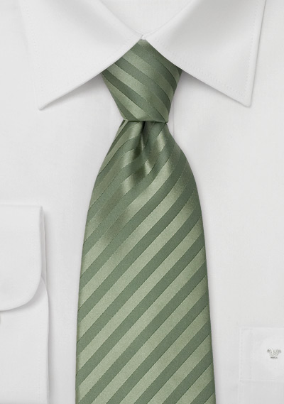 XL Mens Tie in Dark Sage Green