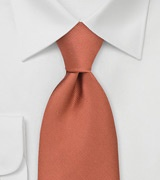 Solid Autumn Orange Tie