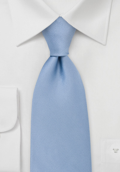 Textured Pool Blue Tie in XL