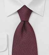 Dotted Tie in Bordeaux Red