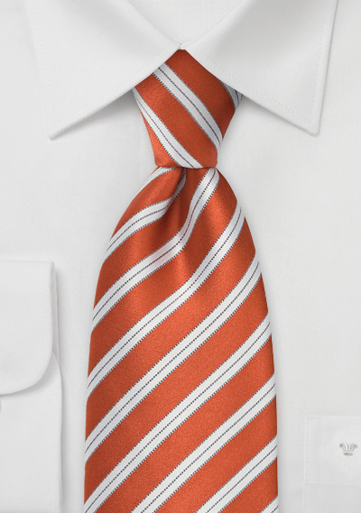 Modern Bright Orange Tie