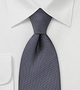 Dotted Tie in Graphite Grey