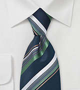 Multi-Color Striped Tie in Blue