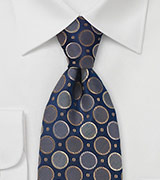 Modern Navy and Taupe Tie