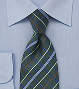 Jalapeno Striped Green Tie
