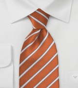 Kid Sized Tie in Burnt Orange and White