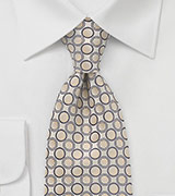 Champagne and Cognac Patterned Tie