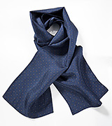Navy Blue Silk Scarf