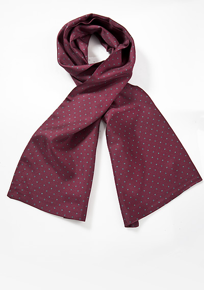 Burgundy Red Silk Scarf