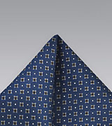 Star Patterned Pocket Square in Dark Blue