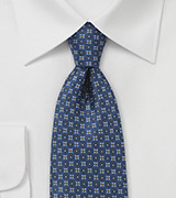 Floral Silk Tie in Elegant Blue