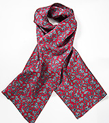 Burgundy Red Paisley Scarf