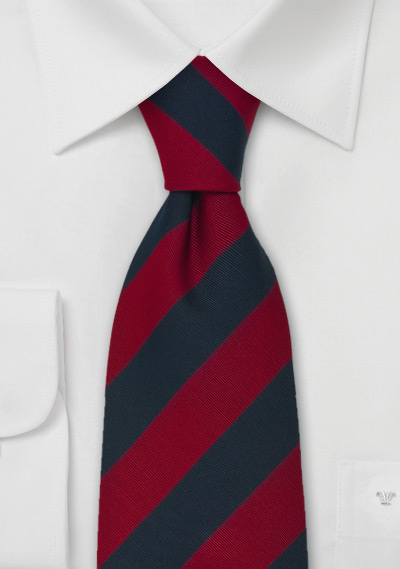 Regimental Tie in Red and Navy