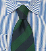 Regimental Tie in Green and Navy