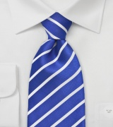 Marine Blue and White Tie for Kids