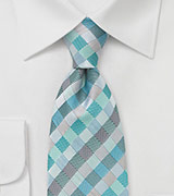 Patchwork XL Tie in Aquas