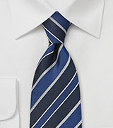 Classic Blue and Silver Tie