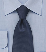 Mens Textured Tie in Indigo