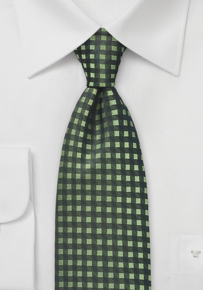 Graphic Gingham in Organic Green
