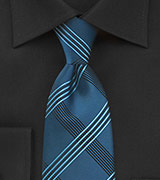 Plaid Tie in Brocade Blues