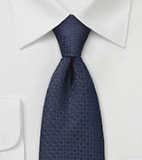 Swirl Patterned Tie in Midnight Blue