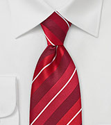Striped Tie in Lipstick Reds