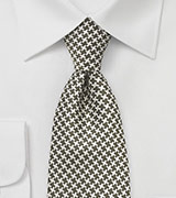 Retro Pattern Tie in Fern Green